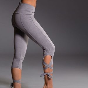 Onzie Stone Gray Ballerina Capri Yoga Leggings